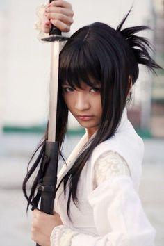 katana female spirit of the samurai Samurai Poses, Samurai Girl, Female Samurai, Ninja Girl, Sword Photography, Samurai Photography, Sword Poses, Katana Girl, Japanese Warrior