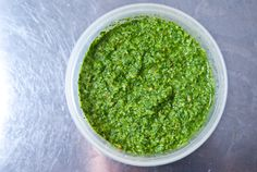 Cilantro / Koreander Chutney.  I am pretty much addicted to Cilantro / Koreander, so I am going to make this when my friend from Sweden comes to visit in a couple of weeks, so I can send a jar home with her.