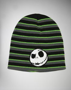 Nightmare Before Christmas Jack Striped Beanie