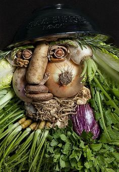 Creative Portraits Made of Food and Flowers by Klaus Enrique Gerdes- inspired by the Four Seasons from Giuseppe Arcimboldo