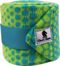 Classic Equine polo wraps in lime dots pattern