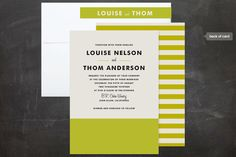 stunning 50s inspired color block stationery for minted by @Kerry Doyle / Paper Dahlia. Love.