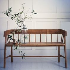 HK Living, GARDEN BENCH - TEAK or BLACK