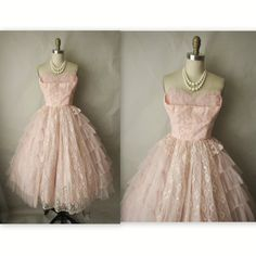 would make a great retro pink wedding dress