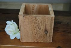Rustic Barn Wood Vase Centerpiece by hunnicutroad on Etsy