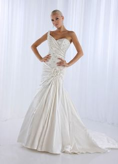 One strap, Satin  LIBridal and Formal Wear Sioux Falls, SD  Impression Bridal Gown