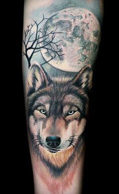 Wolf and full moon tattoo by Dzikson Wildstyle Wolf Tattoo Design, Tattoo Designs, Tattoo Ideas, Wolf Tattoos, Body Art Tattoos, Tatoos, Wolf Und Mond Tattoo, Tattoo Mond, Wolf Tattoo Shoulder
