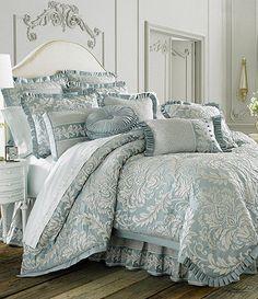 For my new bedroom? J Queen New York Vanderbilt Bedding Collection Linen Bedroom, Bedroom Bed, Dream Bedroom, Master Bedroom, Bedroom Decor, Queen Comforter Sets, Bedding Sets, Gray Bedding, Queens New York