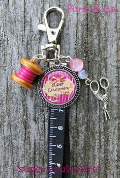 """MINI gri-gri, porte-clefs ou bijoux de sac, fantaisie """"super couturière"""" : Porte clés par sylvieb63"""