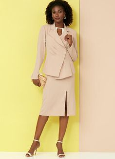 V9365 | Misses' Jacket, Top, Dress, Skirt and Pants | Vogue Patterns