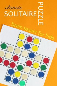 Two Brain-Building Solitaire Board Games. What to do when kids are board. These games are excellent indoor kids activities. Try these brainteasing puzzles!
