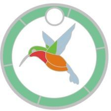 Pathtag #21431 - Rufous Hummingbird - Stained Glass Club