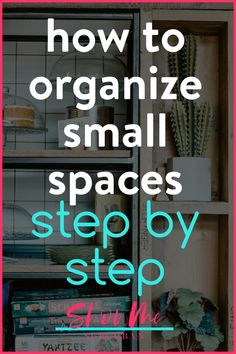 Have a closet, drawer, or cabinet in your home that's always disorganized? Learn how to get and keep small spaces organized in just a few steps. These easy tips are great for organizing the closet, bathroom, or kitchen. Small Space Organization, Book Organization, Laundry Room Organization, Makeup Organization, Organizing, How To Organize Your Closet, Declutter Your Home, Storage Tubs, Storage Spaces