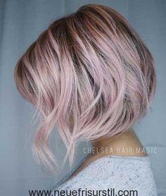 Kurze Haare Pink Balayage