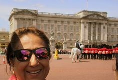 Buckingham Palace, is where the Queen lives!