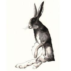 Hare - A3 print