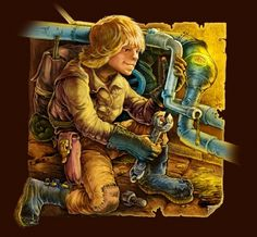 Also a plumber. Cg Artwork, Fantasy Artwork, Luke Skywalker, No One Loves Me, Plumbing, Photoshop, Diy Crafts, Painting, Fictional Characters