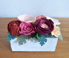 Medium Felt Succulent Flower Box   Office Decor, Desk Accessory, Wedding, Tablescape, Holiday Decor, Shelfie, Hostess Gift   Ready To Ship