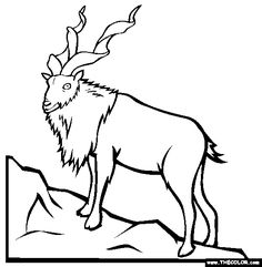 Mount Everest Coloring Page, Himalaya Mountains Coloring