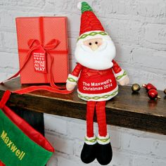 A Santa for your family home ♥ https://nspcc.ijustloveit.co.uk/product/personalised-sitting-santa-figure/