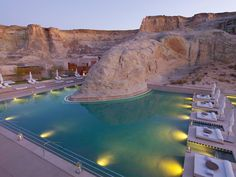 Amangiri Resort, Spa and Villas, near Lake Powell in Southern Utah Amangiri Hotel, Amangiri Resort Utah, Beautiful Hotels, Beautiful Places To Visit, Beautiful World, Cool Swimming Pools, Best Swimming, Lake Powell, Places Around The World