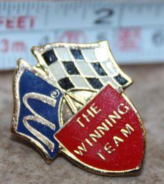 McDonalds Winning Race Team Collectible Pinback Pin Button #McDonalds