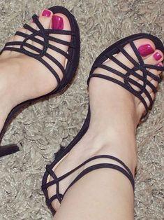 Only Stiletto Sandals Stilettos, Stiletto Heels, Sexy Legs And Heels, Hot High Heels, Beautiful High Heels, Gorgeous Feet, Sexy Sandals, Nylons Heels, Sexy Toes