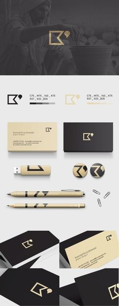Personal Branding by Konrad Kruczkowski #business #card #design #inspiration  / repinned on Toby Designs