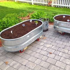 My container garden in Manchester, NH. Hopefully I'll have some growing pictures soon.