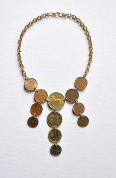 far away places coin bib necklace — FOURTEEN ELEVEN DESIGNS