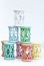 Childs Peacock Side Table Pastels!