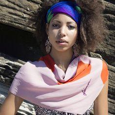 Bay & Fyfe Flamingo print limited edition silk scarf