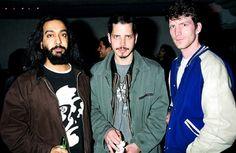 Kim Thayil, Chris Cornell, & Ben Shepard.