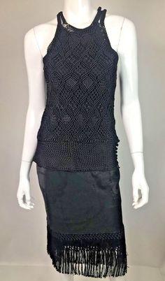 Ralph Lauren Black Label Women's Black Knit Top & Fringe Skirt Set Size 6/S | Clothing, Shoes & Accessories, Women's Clothing, Dresses | eBay!
