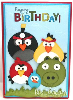 a bunch of angry birds to wish you a happy birthday...too cute...