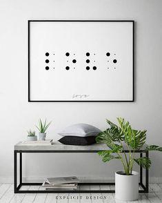 Love in Braille Printable Blind Alphabet Dots Print Black