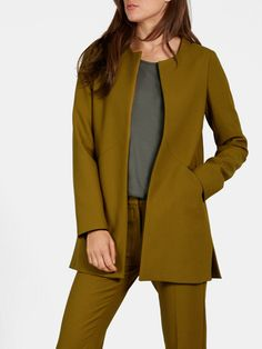 Lange Blazer Groenolijf - Costes Fashion Suit Jackets, Blazers, Suits, Clothing, Women, Fashion, Outfits, Moda, Clothes