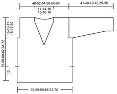 Gebreide DROPS trui in tricotst met V-hals en splitten aan de zijkanten van Melody. Maat: S - XXXL.