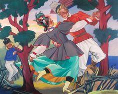 Zofia Stryjeńska Poland, Folk, Fine Art, Anime, Painting, Fictional Characters, Artists, Spaces, Inspiration