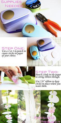 circle paper and ribbon