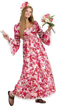 Flower girl hippie costume