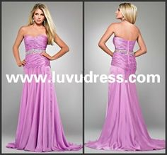New Arrival! A-line Floor Length Sweetheart Beaded Chiffon 2014 Prom Dress
