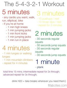 20 minute workout