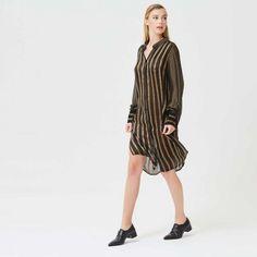 Maxi Gold Stripes Shirt