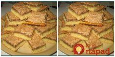 Výborný recept, ktorý som našla na internete už asi pred pol rokom na stránke toprecepty. Podobá sa na Londýnsky rez, ale toto nám chutí ešte omnoho viacej. Je to naozaj veľmi rýchle a veľmi veľmi chutné. Potrebujeme: Cesto: 320 g hladkej múky 180 g masla 90 g práškového cukru 2 žĺtky Na vrch: 150 g... Mashed Potatoes, French Toast, Breakfast, Ethnic Recipes, Ale, Basket, Whipped Potatoes, Mashed Potato Resep, Ales