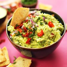 Did you know the antioxidants and healthy fats in avocados help prevent your skin from wrinkles, aging and dryness? Eat for your beauty this National Chip & Dip Day with this Greek Guacamole from @minimalistbaker. #NationalChipandDipDay