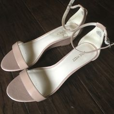 Nine West Nude Kitten Wedges Comfy/Sexy Nude kitten heels.  Worn Only Once for a wedding. Nine West Shoes Wedges