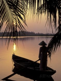 Evening View on the Mekong River ~ Mekong Delta, Vietnam