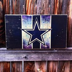 Dallas Cowboys Team Logo Wooden Wall Hanging by MegAndMosClubhouse
