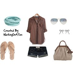 Easy, Breezy, created by workingonatan on Polyvore #Summer #Polyvore #Clothes #Outfits    I love simple summer outfits!